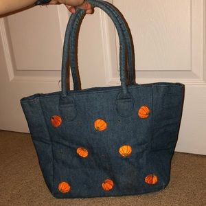 Denim pumpkin purse